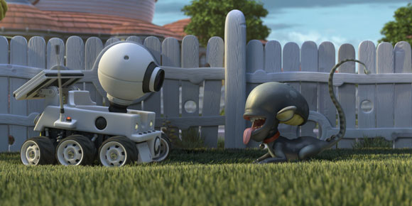 Planet 51, alien, dog, cane, rover