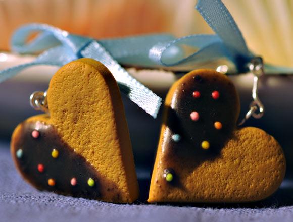Annapaola Rapacciuolo - Le Chou Chou - bijou - kawaii - cute - jewellery - gioielli - fimo - food - sweet - patisserie - heart - cuore - biscuit - biscotti - earring - orecchini