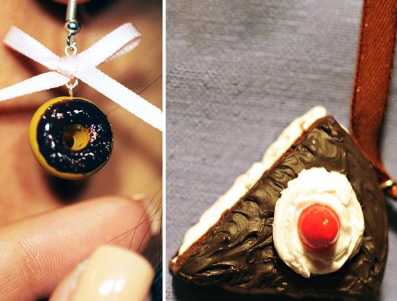 Annapaola Rapacciuolo - Le Chou Chou - bijou - kawaii - cute - jewellery - gioielli - fimo - food - sweet - cake - torta - brown - chocolate - cioccolato - ciambella - donut