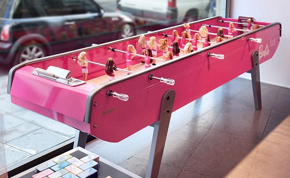 Barbie 50th anniversary - Chlo Ruchon for Bonzini - pink table football Barbie Foot