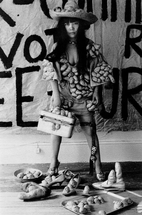 Yayoi Kusama - St. Marks Place Studio, New York, 1970 - Obsession Phallic Sivershoes