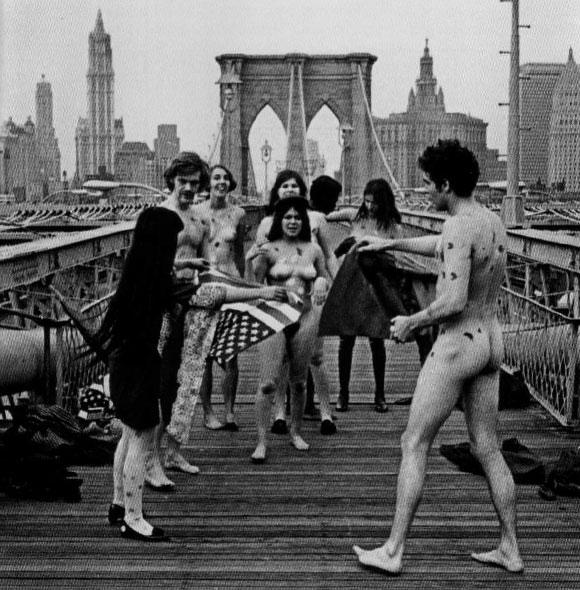 Yayoi Kusama, Naked Happening Orgy and Flag-burning, Brooklyn, New York, 1968