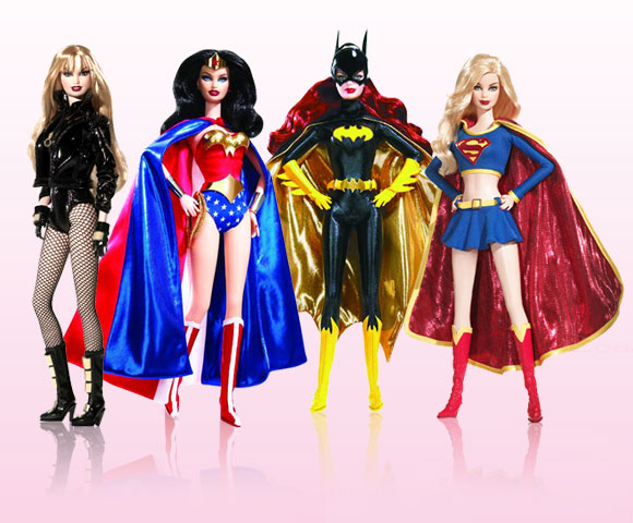 Barbie - Black Canary, Wonder Woman, Batgirl, Supergirl Barbie
