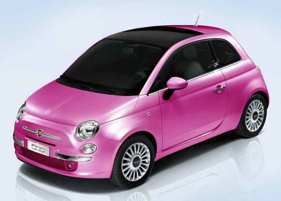 Barbie 50th anniversary - Fiat 500, fashion car / automobile