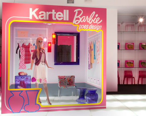 Barbie 50th anniversary - Kartell - Salone del Mobile, shop window / vetrine
