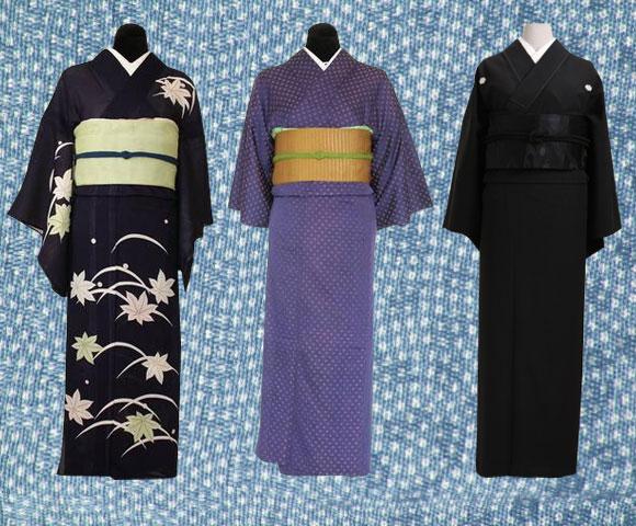 tsukesage kimono, komon kimono, mofuku kimono