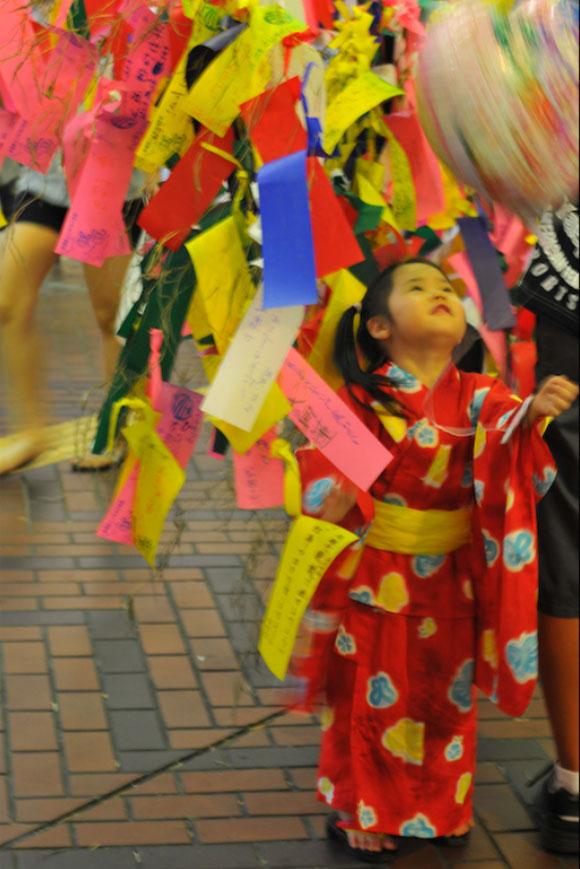 bambina che indossa un kimono / A little girl wearing kimono
