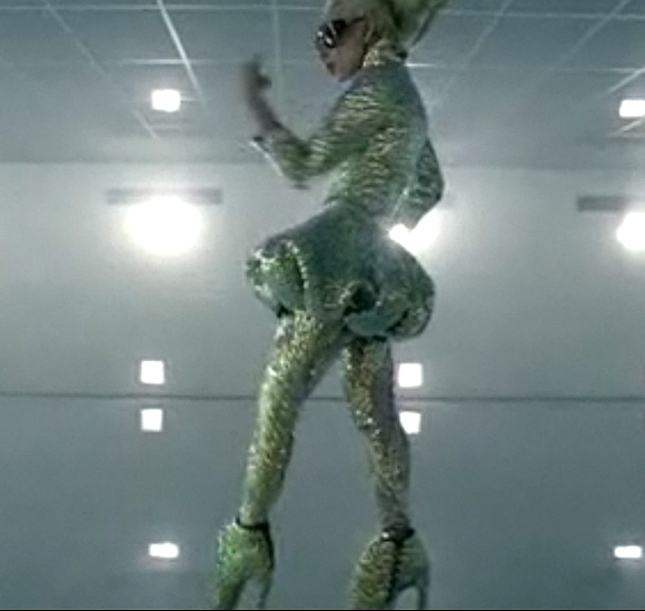 Lady Gaga, Bad Romance, Armadillo shoes by Alexander McQueen.