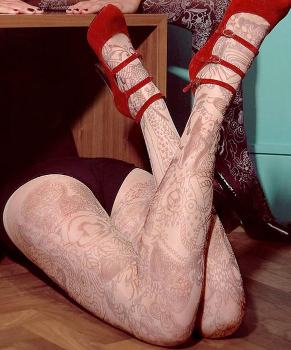 collant tattoo / calze tatuaggio