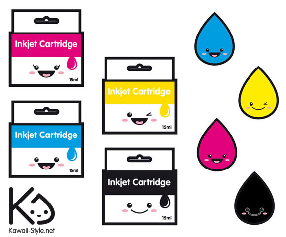 Ivan Ricci kawaii-style - Inkjet cartridge / cartucce della stampante