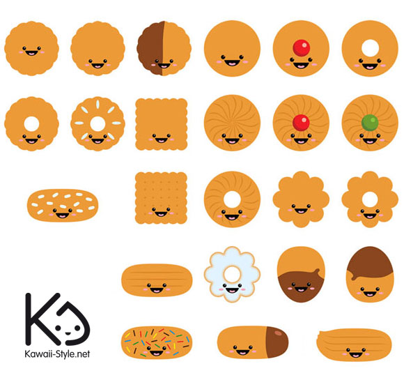 Ivan Ricci kawaii-style - kawaii biscuits / biscotti carini
