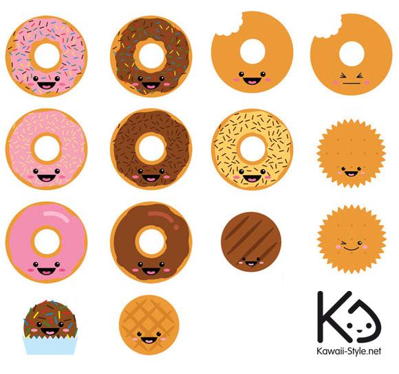 Ivan Ricci kawaii-style - kawaii biscuits / biscotti carini