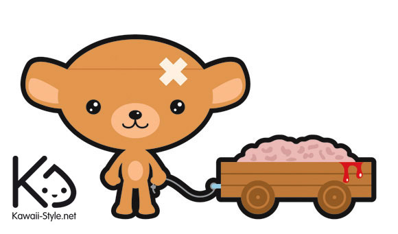 Ivan Ricci kawaii-style - Kuma-chan, bear with brain / orsetto con cervello