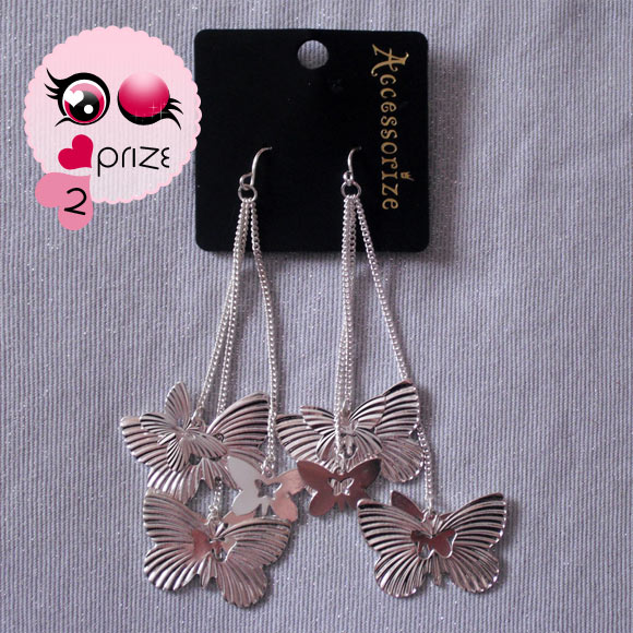 Accessorize - Earring with butterflies / Orecchini con farfalle