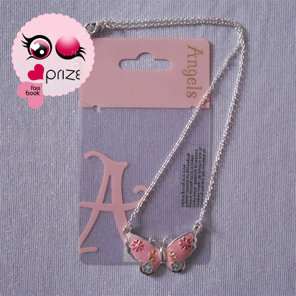 Accessorize - Necklace with pink butterfly / Collana con farfalla rosa