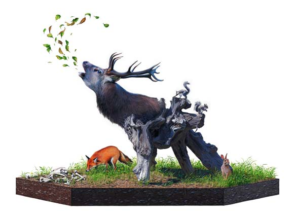 Josh Keyes - Howl, 2009