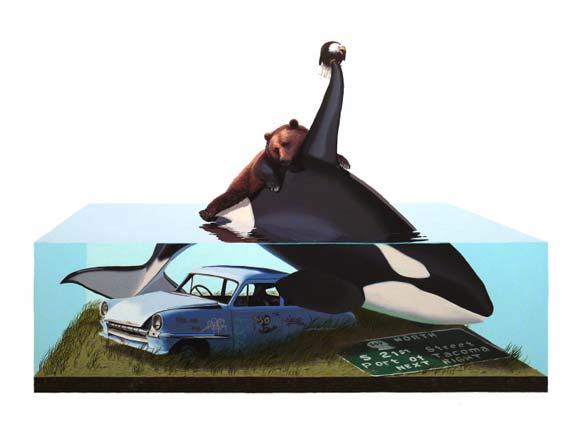 Josh Keyes - Raft, 2008