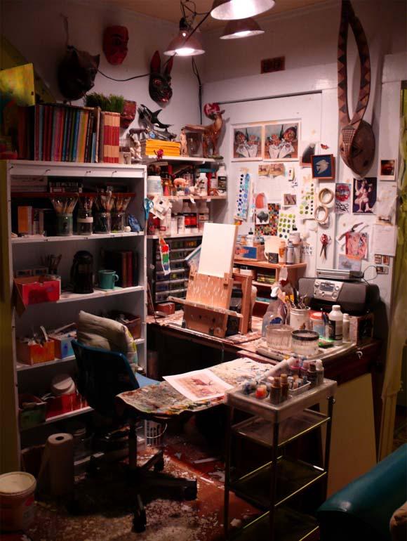 Josh Keyes's studio