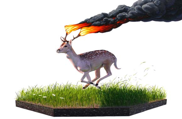 Josh Keyes - Frenzy, 2009
