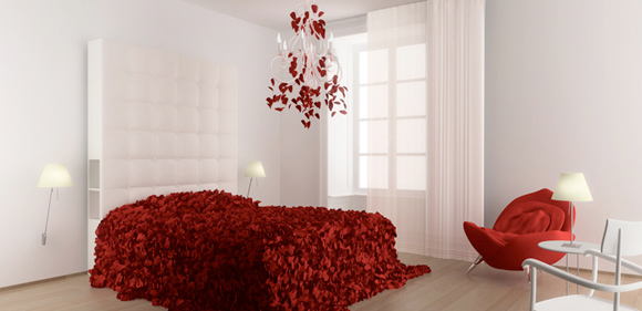 Maison Moschino Hotel Milano - Petali di rose rosse