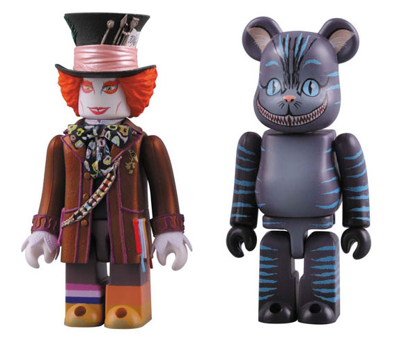 Medicom toy - Be@rbrick Cheshire Cat / Stregatto and Kubrick Mad Hatter / Cappellaio Matto figure