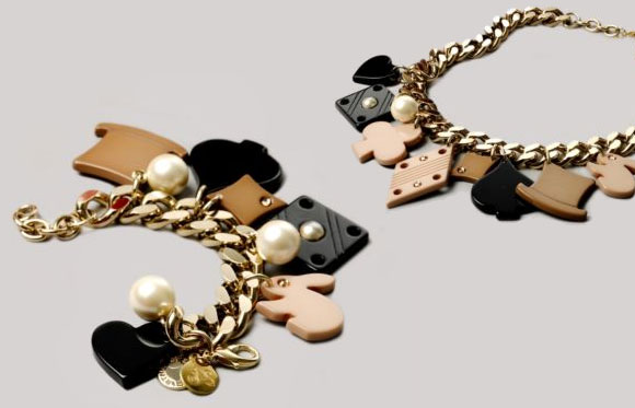 Stella McCartney - Alice in Wonderland Charm Necklace & Bracelet / collana e bracciale