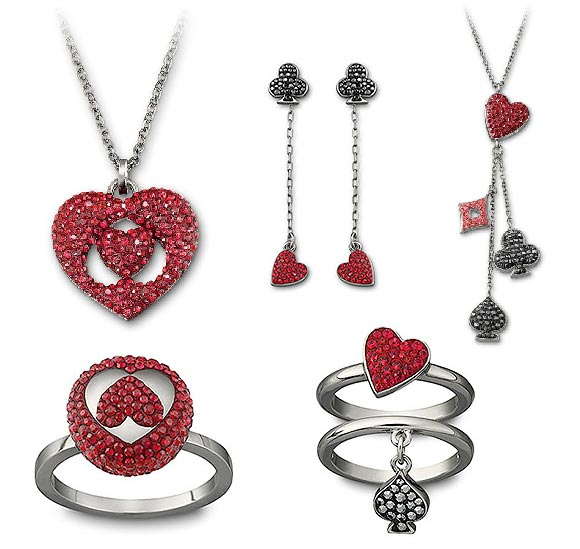 Swarovski - Red Queen Hearts and Cards / Regina di cuori e carte for Alice in Wonderland