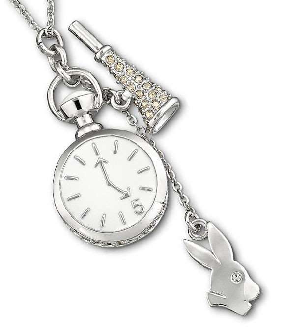 Swarovski - Tea Party White Rabbit Pendant, Online Exclusive for Alice in Wonderland