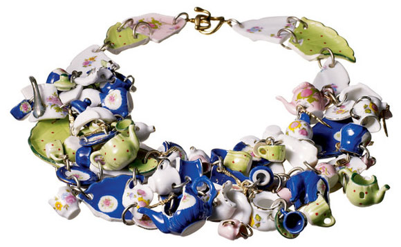 Tom Binns - Disney Couture Jewelry, Tea Party Necklace for Alice in Wonderland