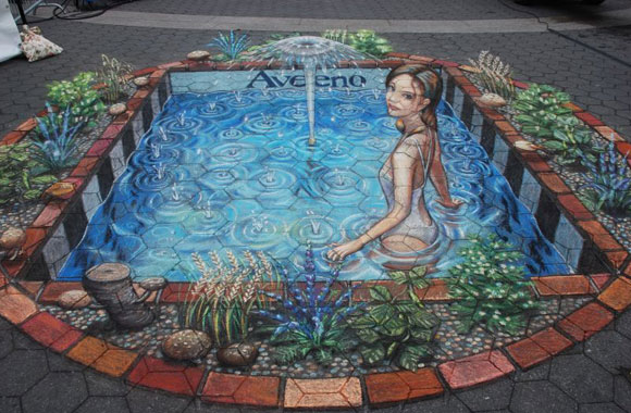 Julian Beever for Aveeno