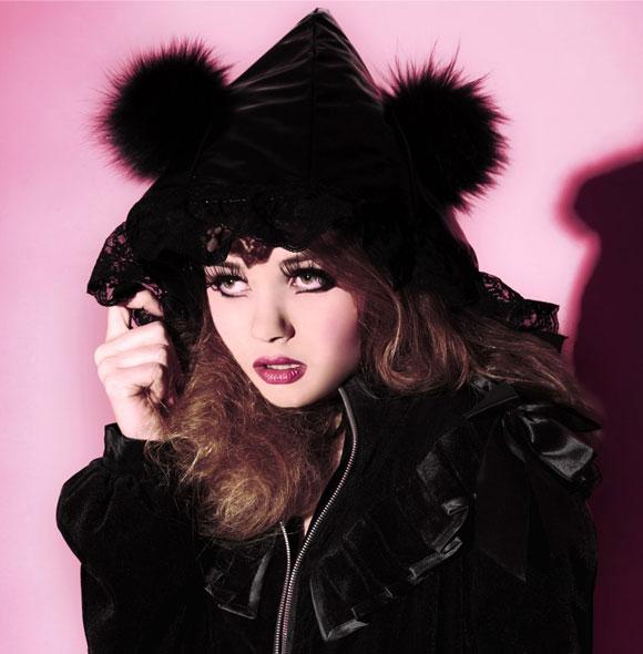 wolf Red Riding Hood Black Victorian Lolita Style Jacket, giacca nera con le orecchie del lupo cattivo di cappuccetto rosso