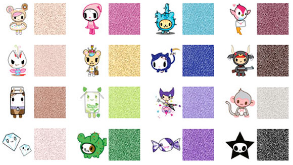 Tokidoki kawaii Beauty - Cromatico Eyeshadow Shades