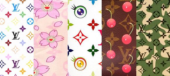 © Louis Vuitton & Takashi Murakami: Monogram Multicolore, Cherry Blossom, Eye Monogram series, Monogram Cerise, Monogrmouflage