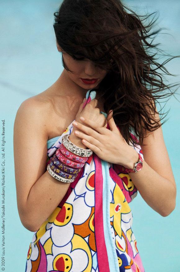 © Louis Vuitton & Takashi Murakami: Cosmic Blossom, model: Daisy Lowe