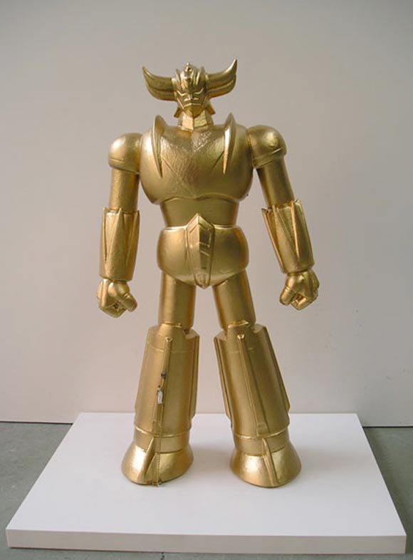 Francesco De Molfetta - Gold-Rake, goldrake robot sculpture
