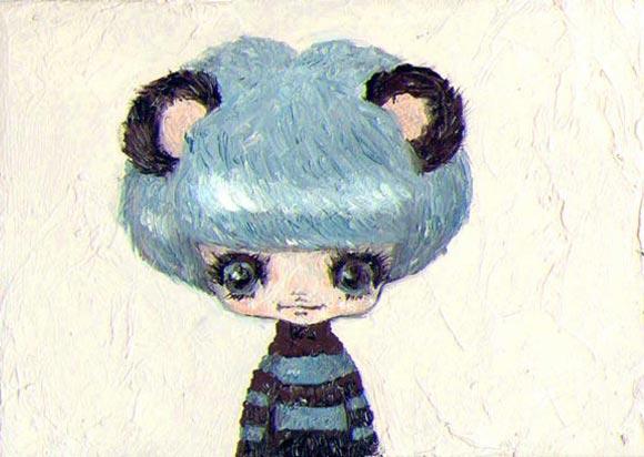 Tomoko Nagao - Shima Shima, kawaii blue Hair