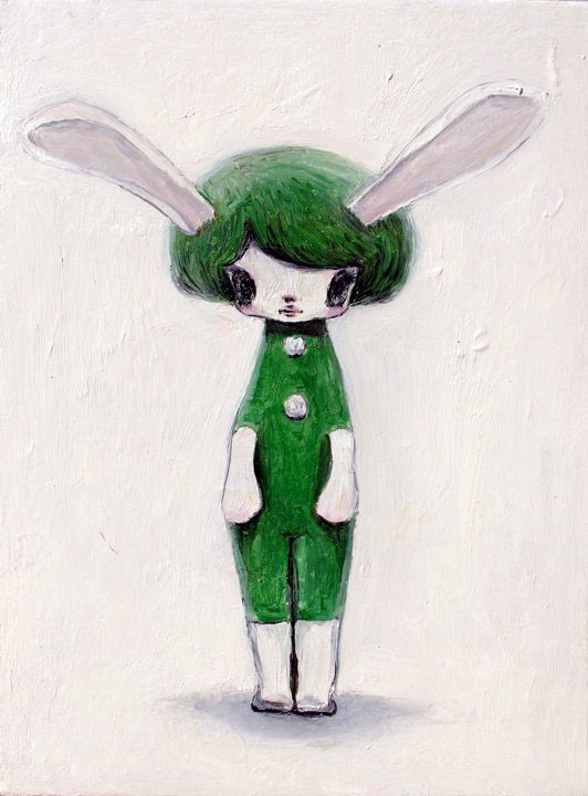 Tomoko Nagao - kawaii bunny with White Ears