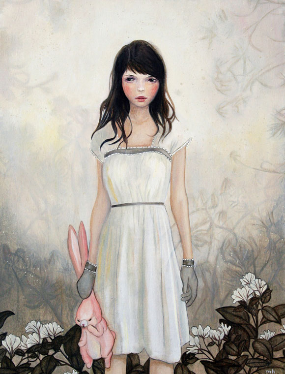 Melissa Haslam - Finding a pink rabbit in the flowering undergrowth, 2008