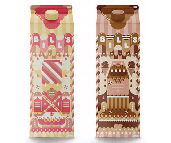I Love Dust - Bill's Milkshake milk - latte packaging
