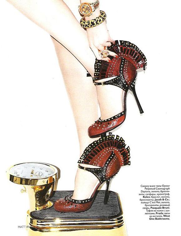 Vogue Russia, December 2009, Libra, Anastasija Kondratjeva