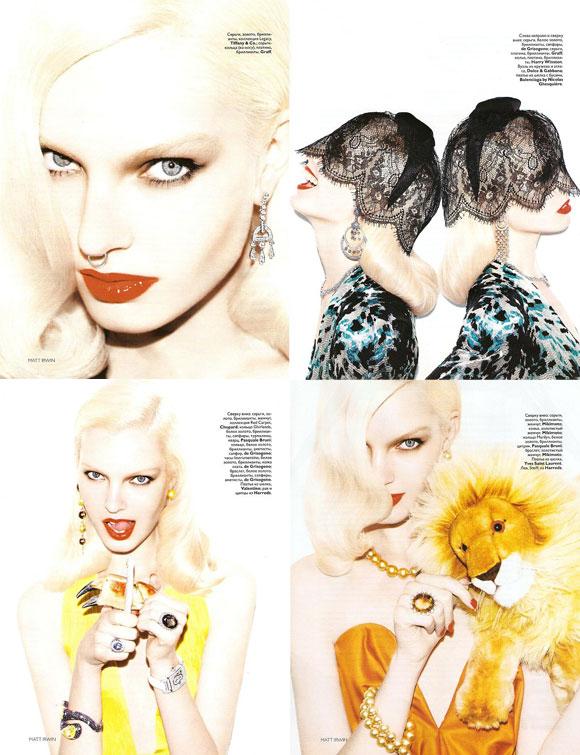 Vogue Russia, December 2009, Taurus, Gemini, Cancer, Leo, Anastasija Kondratjeva