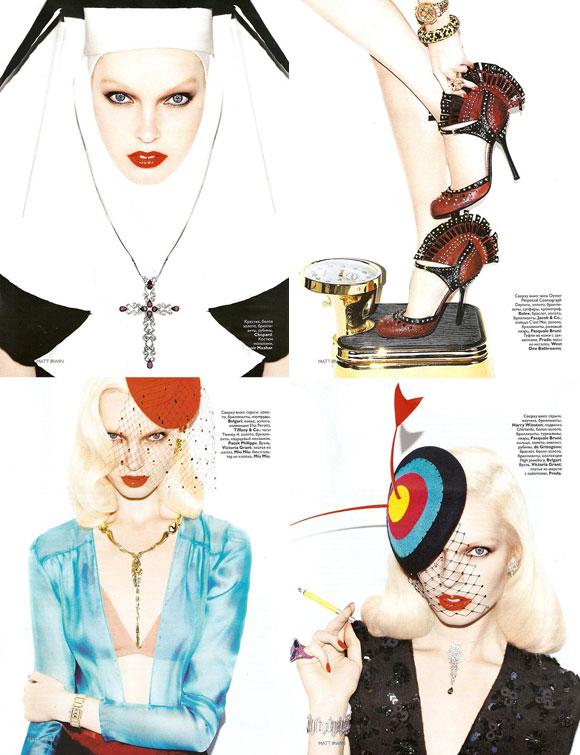Vogue Russia, December 2009, Virgo, Libra, Scorpio, Sagittarius, Anastasija Kondratjeva