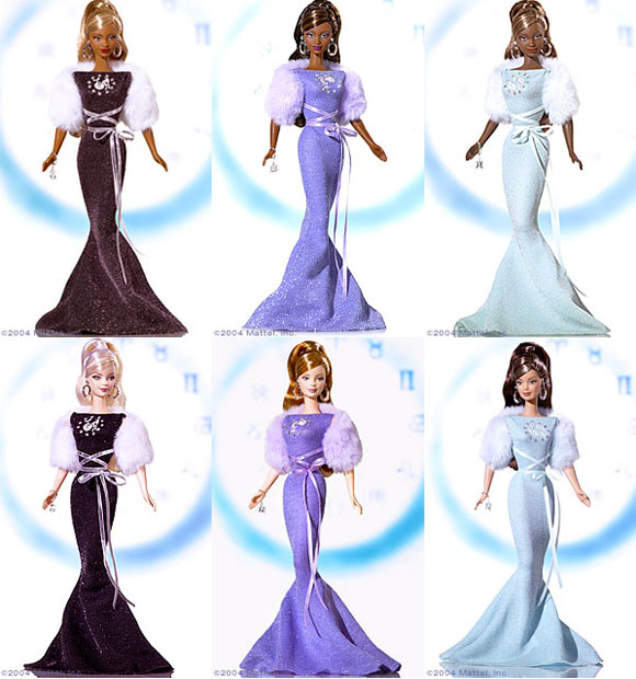 Zodiac Barbie Dolls, 2004, Capricorn, Aquarius, Pisces