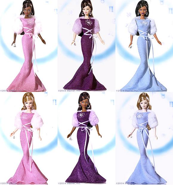 Zodiac Barbie Dolls, 2004, Libra, Scorpio, Sagittarius