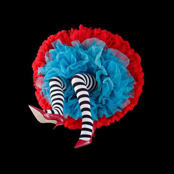 Daryl Banks - Striped Crinoline Flower, gonne a forma di fiore