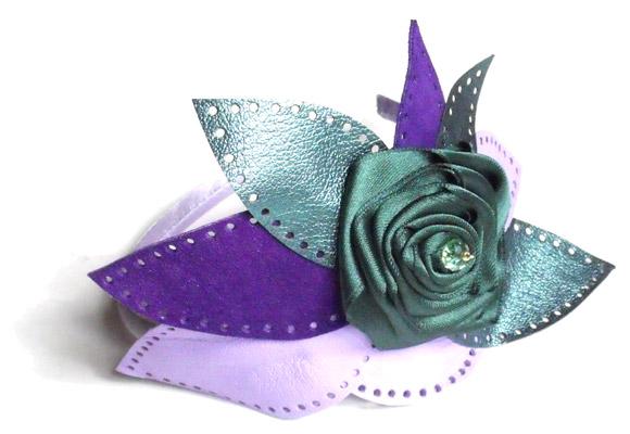 Giulia Boccafogli - Leaves, Primula headbands, cerchietto con foglie di pelle