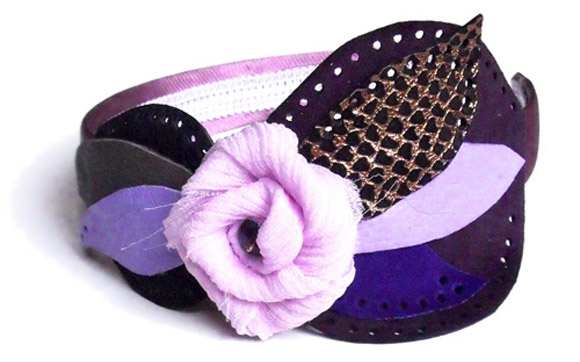 Giulia Boccafogli - Leaves, Patrisse headbands, cerchietto con foglie di pelle