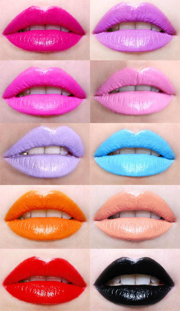 Lime Crime - Lipstick Collection: Centrifuchsia, Airborne Unicorn, Countessa Fluorescent, Great Pink Planet, D'lilac, No She Didn't, My Beautiful Rocket, Cosmopop, Retro Futurist, Stiletto