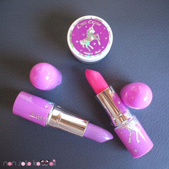 Lime Crime - Lipstick: Airborne Unicorn, Countessa Fluorescent, Magic Dust: Mermaid