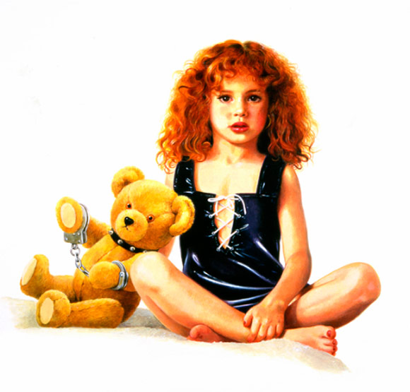 Titti Garelli - Bambine Cattive, Orsetto in Manette - girl with teddy bear plush